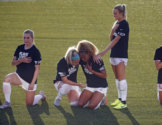 NWSL player explains choice not to kneel in protest