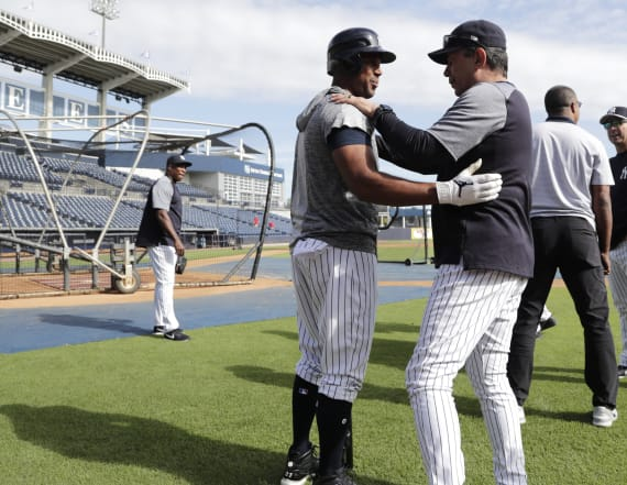 Yankees instructor hospitalized after hit by ball