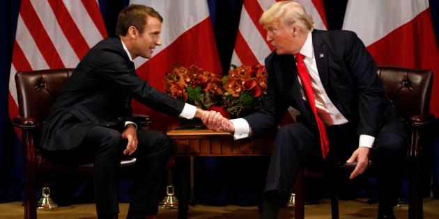 Emmanuel Macron et Donald Trump lors d'une rencontre à New York, le 18 septembre 2017.