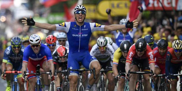 l'Allemand Marcel Kittel remporte la deuxième étape du Tour.