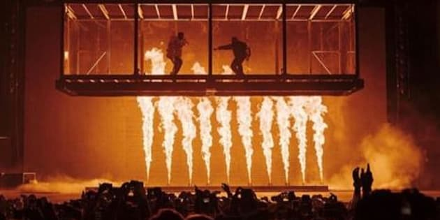 "Kids See Ghosts (Kid Cudi et Kanye West) au festival ""Camp Flog Gnaw"" ce dimanche 11 novembre."