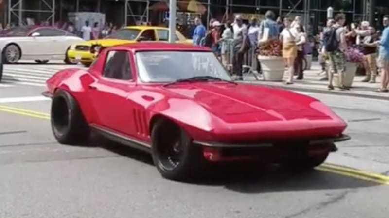 fast 8 adds restomod 1966 chevy corvette to roster autoblog. Black Bedroom Furniture Sets. Home Design Ideas