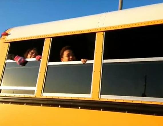 Driver refuses to let kids off bus