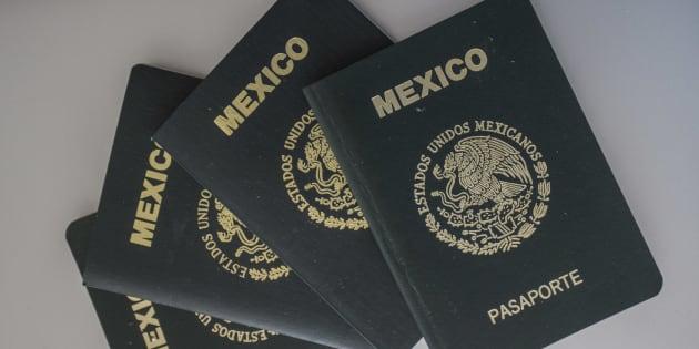 Pasaporte mexicano.