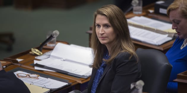 Attorney General of Ontario Caroline Mulroney sits in the Legislative Assembly of Ontario on Sept. 17 2018.