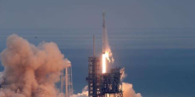 Lancement d'une fusée SpaceX à Cape Canaveral le 19 février 2017.