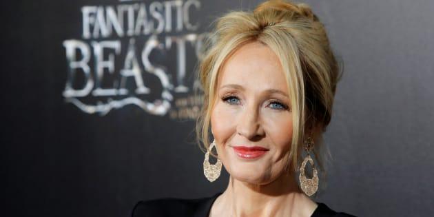 """J. K. Rowling à l'avant-première du film """"Les animaux fantastiques"""", le 10 novembre."""
