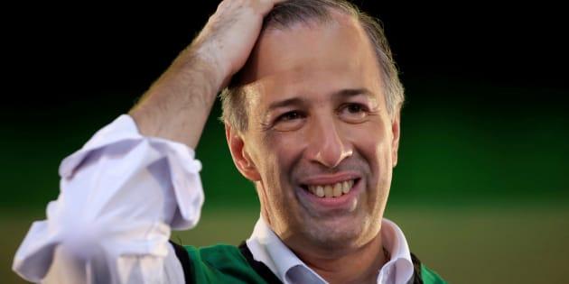 José Antonio Meade, candidato de la alianza PRI-PVEM-Panal, gesticula durante una concentración de campaña en Ciudad Juárez.
