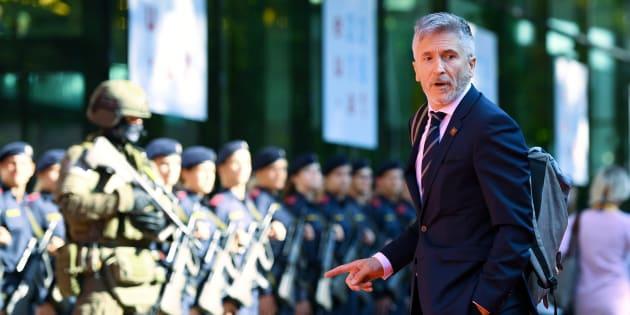 Fernando Grande-Marlaska, el pasado 12 de julio en la reunión de ministros de Interior y Justicia de la UE en Innsbruck, Austria.