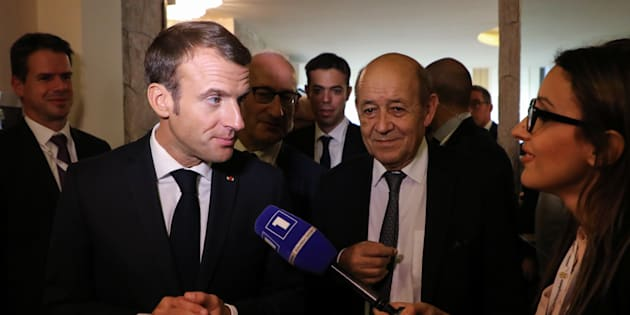 Emmanuel Macron à Erevan le 12 octobre 2018