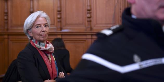 Christine Lagarde le 12 décembre, lors de son procès devant la Cour de justice de la République.