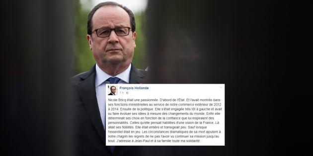 """Mort de Nicole Bricq: Hollande exprime son """"chagrin"""" et salue une femme """"entière"""" et """"passionnée"""""""
