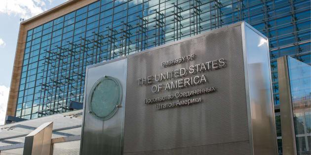 Uno de los edificios de la embajada de EEUU en Moscú.