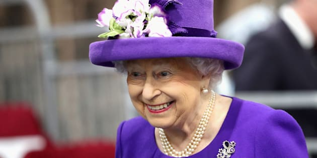 Britain's Queen Elizabeth attends the Commissioning Ceremony of the Royal Navy's aircraft carrier HMS Queen Elizabeth, in Portsmouth, December 7, 2017.  REUTERS/Chris Jackson/Pool