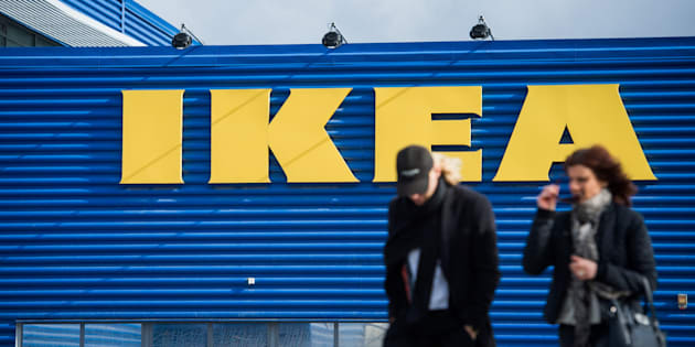 People walk outside Europe's biggest Ikea store is pictured in Kungens Kurva, south-west of Stockholm on March 30, 2016.  Ikea founder Ingvar Kamprad, who built a global business empire with revolutionary flat-pack furniture and dallied with Nazism in his youth, turned 90 today. / AFP / JONATHAN NACKSTRAND        (Photo credit should read JONATHAN NACKSTRAND/AFP/Getty Images)