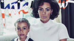 Magnifique Kim Kardashian en première dame avec sa fille North pour le magazine