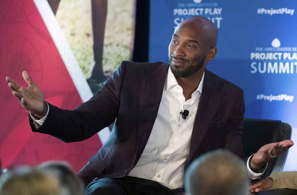"""0f652ff4a720 Los Angeles legend Kobe Bryant left loyalists at the annual Lakers  All-Access event on Monday night by promising the team s 17th NBA  championship """"before ..."""