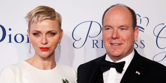 Prince Albert II of Monaco arrives with his wife Princess Charlene of Monaco for the 2016 Princess Grace Awards Gala in Manhattan, October 24, 2016.
