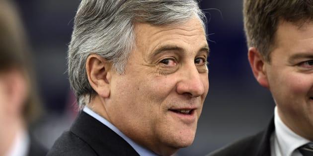 L'Italien Antonio Tajani - ici le 17 janvier 2017 - élu président du Parlement européen
