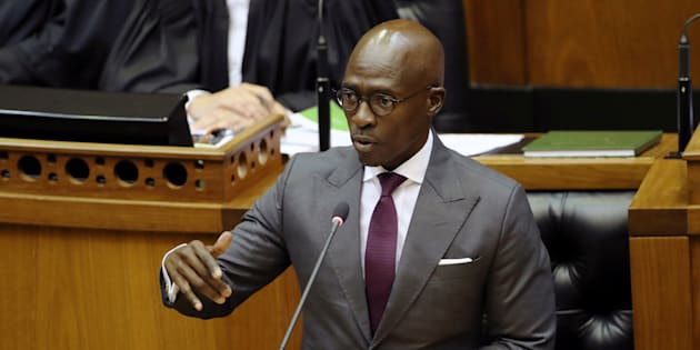 Finance Minister Malusi Gigaba delivering his Budget address in Parliament.