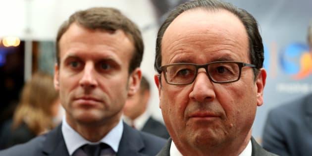 François Hollande et Emmanuel Macron à l'Elysée en mai 2016.