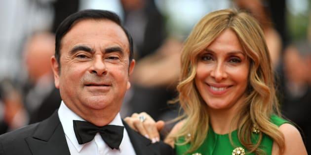 Carlos et Carole Ghosn au Festival de Cannes 2017.