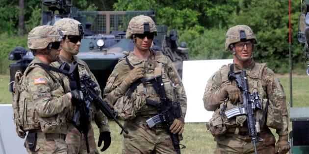 Des soldats américains lors de l'édition 2017 de l'exercice Saber Strike.