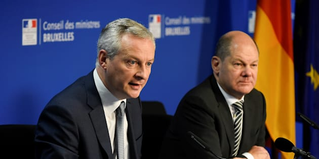 Olaf Scholz et Bruno Le Maire à Bruxelles au mois de novembre.