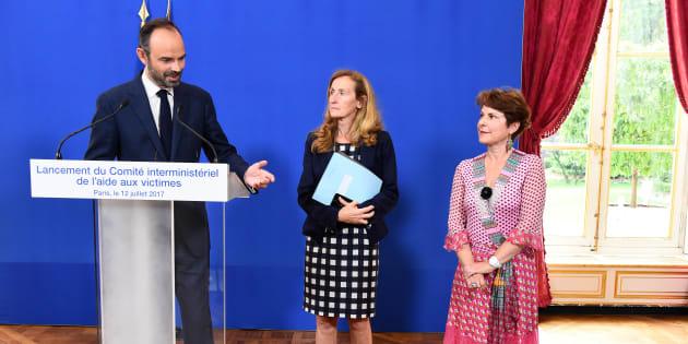 Édouard Philippe, Nicole Belloubet et Elisabeth Pelsez, mercredi 12 juillet.
