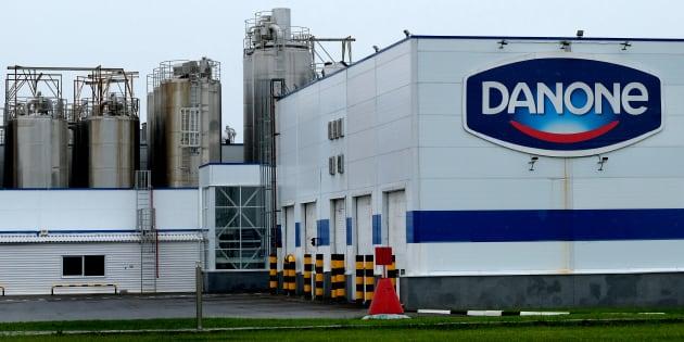 Une usine Danone à Chekhov près de Moscou en Russie, le 22 juillet 2017.
