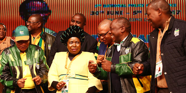 From left: President Jacob Zuma and his three potential successors: Nkosazana Dlamini-Zuma, Deputy President Cyril Ramaphosa and Zweli Mkhize.