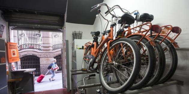 Negocio de alquiler de bicicletas del distrito de Ciutat Vella.