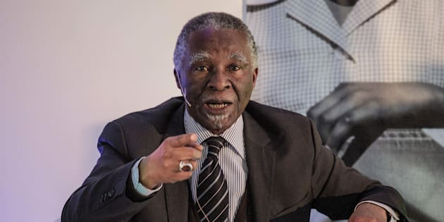 Former South African president Thabo Mbeki speaks during the National Foundations Dialogue initiative on May 5, 2017 in Johannesburg, South Africa. The dialogue is intended to bring all South Africa together to engage purposefully and cogently about the state of their country and how they might contribute to the renewal of South Africa. (GIANLUIGI GUERCIA/AFP/Getty Images)