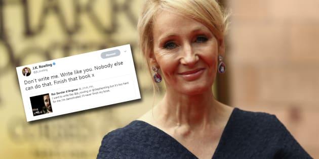 Une panne d'inspiration? J.K. Rowling à la rescousse.