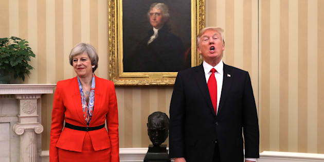La primera ministra de Reino Unido, Theresa May, y el presidente de EEUU, Donald Trump, reunidos en la Casa Blanca el pasado enero.