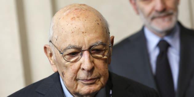 """Il presidente emerito Giorgio Napolitano: """"Siamo in mar"""