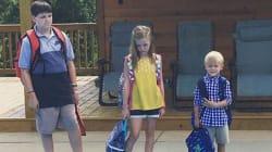 Questa foto del primo giorno di scuola è quella che ogni genitore sogna di scattare dopo
