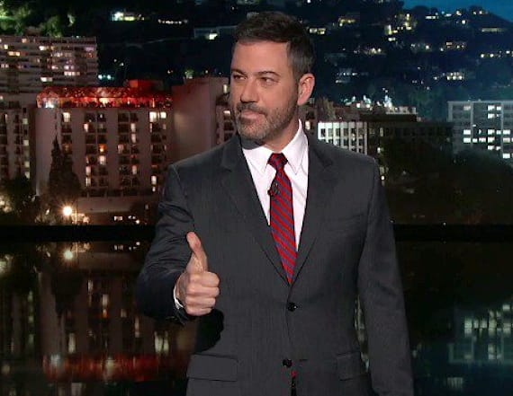 Jimmy Kimmel shares theory about Trump's thumbs-up