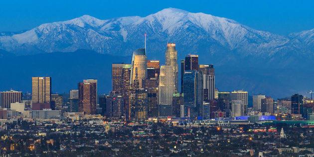 Vista del centro de Los Ángeles.