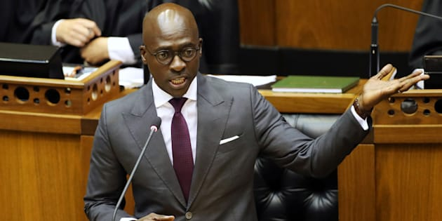 Finance minister Malusi Gigaba delivers his Budget address in Parliament. February 21, 2018.