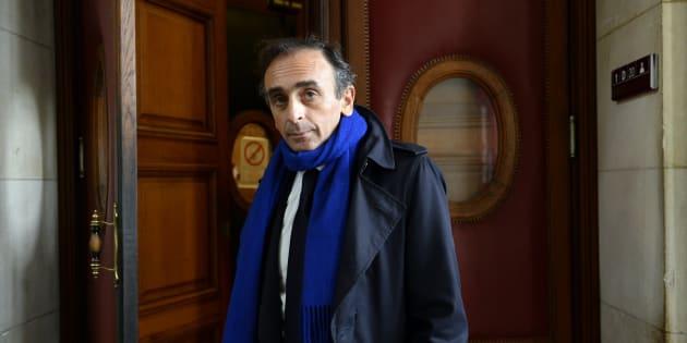 Eric Zemmour à Paris le 6 novembre 2016.