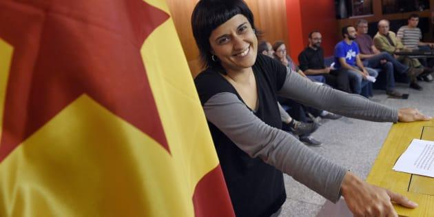 Anna Gabriel, en una imagen de archivo de 2015, cuando la CUP exigía la marcha de Artur Mas.