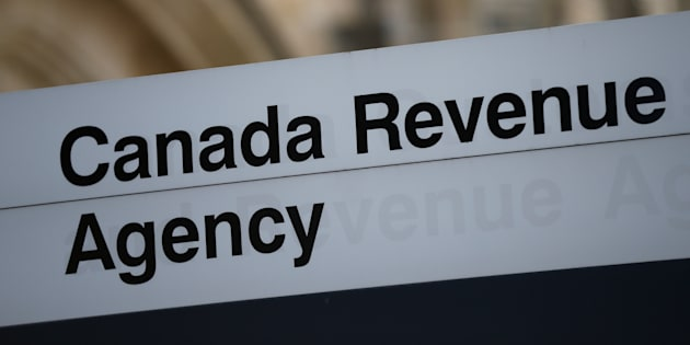 A sign is pictured in front of the Canada Revenue Agency (CRA) national headquarters in Ottawa,.