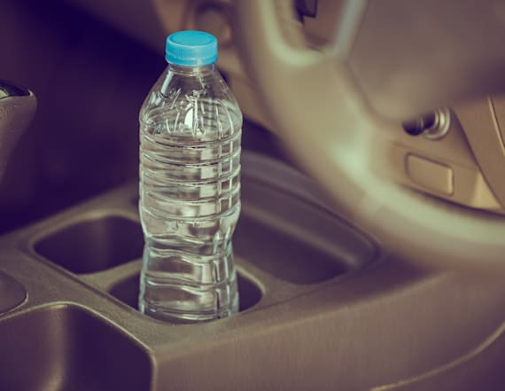 You should never leave water bottles in a hot car