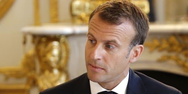 Les vacances se terminent aussi pour Emmanuel Macron (ici le 3 août à l'Élysée), qui lance son an II