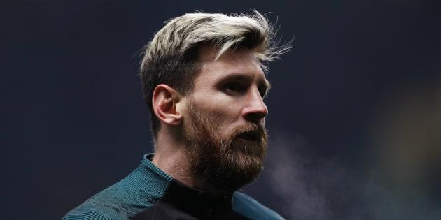 Lionel Messi est apparu brun pour le derby Espanyol - FC Barcelone dimanche 18 décembre.