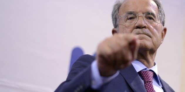 ROME, ITALY - JUNE 14: Former Prime Minister Romano Prodi presents his book 'Il Piano Inclinato' at the Center of American Studies, on June 14, 2017 in Rome, Italy. 'The ULIVO will not come back and I will not be a premier candidate.', said Romano Prodi, who speaks with the journalists upon the arrival of the presentation of his book (Photo by Simona Granati - Corbis/Corbis via Getty Images)