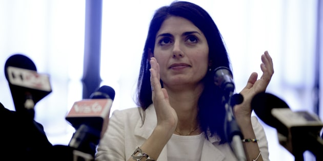 ROME, ITALY - JUNE 21: The Mayor of Rome Virginia Raggi during '#RomaRinasce. One Year of Results and Future Goals' Press Conference  on June 21, 2017 in Rome, Italy. (Photo by Simona Granati - Corbis/Corbis via Getty Images)