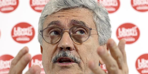 ROME, ITALY - JANUARY 30: Massimo D' Alema, leader of Liberi e Uguali meets the foreign press on January 30, 2018 in Rome, Italy. The Italian General Election takes place on March 4th 2018. (Photo by Simona Granati - Corbis/Corbis via Getty Images)