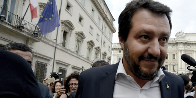 ROME, ITALY - SEPTEMBER 04:Interior Minister Matteo Salvini leaves Palazzo Chigi at the end of the summit on the crisis in Libya, on September 4, 2018 in Rome, Italy. (Photo by Simona Granati - Corbis/Corbis via Getty Images)